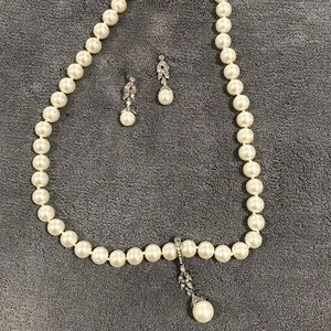 Pearl white jewelry set